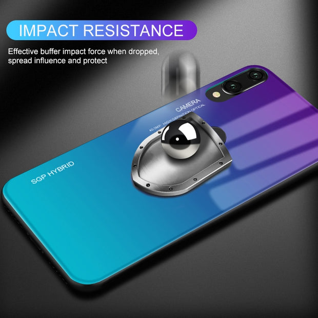 Gradient Phone Shell For Huawei P20 Lite Case For Huawei Honor Note 10 P20 Pro P 20 Plus Tempered Glass Cases Protect Cover Capa