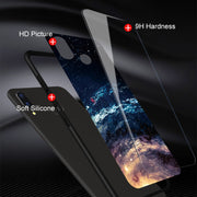 Gradient Tempered Glass Phone Cases For Huawei P 20 Lite Case For Huawei P20 Pro Lite Back Protective Painted Shell P20lite