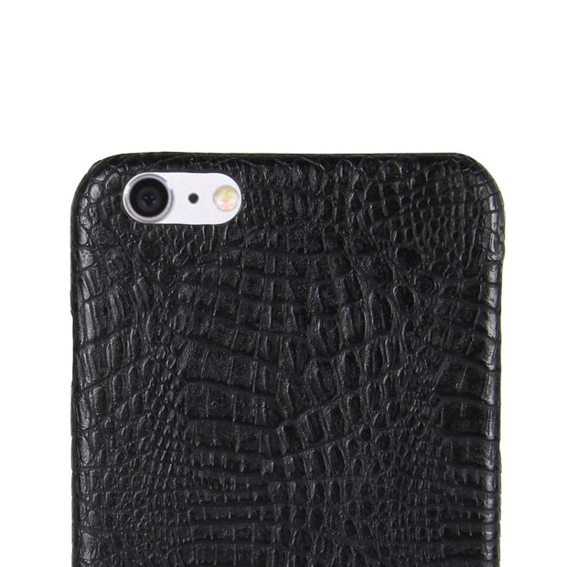 HUDOSSEN For Apple IPhone 6 6s Case Luxury Crocodile Pattern PU Leather Hard Back Cover For IPhone 6S Plus Protective Phone Case