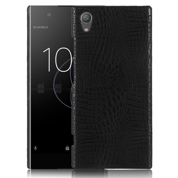 HUDOSSEN For Sony Xperia XA1 Plus G3412 G3416 Case Luxury Crocodile Pattern PU Leather Hard Back Cover For Sony XA1 Plus Case