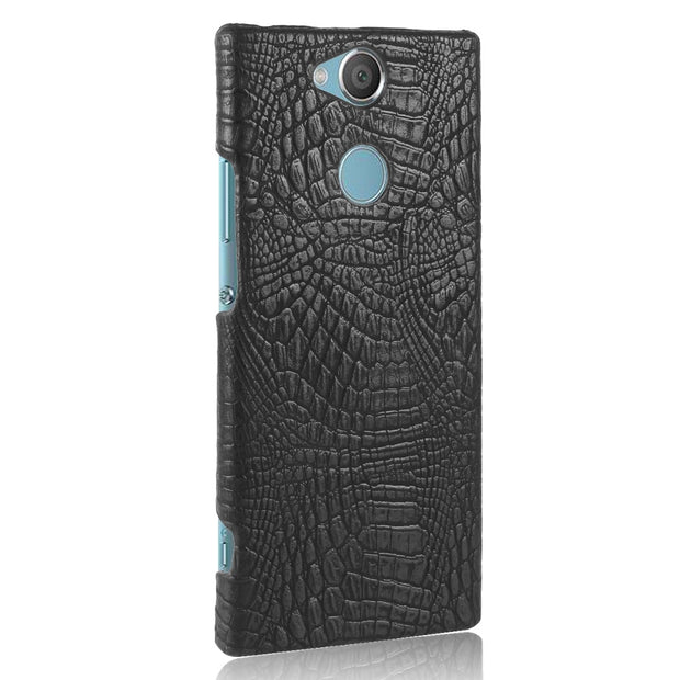 HUDOSSEN For Sony Xperia XA2 Case Luxury Crocodile Pattern PU Leather Hard Back Cover For Sony Xperia XA2 Ultra Protective Case