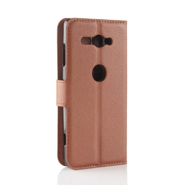 HUDOSSEN For Sony Xperia XZ2 Compact H8314 Case Luxury Flip Leather Back Cover Phone Accessories Bags Skin For Sony XZ2 Compact
