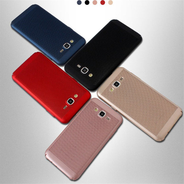 Heat Dissipassion Hard Plastic Back Case Cover For Samsung Galaxy S6 S9 J7 Plus Note 5 8 C5 C7 C8 C9 J2 Pro A5 A7 A8 2017 2018