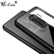 HereCase For Samsung Galaxy S9 Case Silicone TPU Acrylic Transparent Case For Samsung S9 Plus Galaxy S 9 Back Cover For Galaxy S