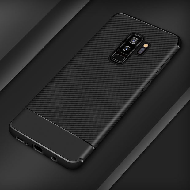 HereCase Shockproof Carbon Fiber TPU Case For Samsung Galaxy S9 S8 Plus Luxury Ultra Thin Silicone Case For Samsung Galaxy Note8