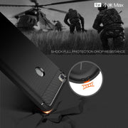 High Quality Fundas For Xiaomi Mi Max Carbon Fiber TPU Armor Mobile Phone Bag Silicone Cover Case For Xiaomi Max 6.44 Inch 32GB