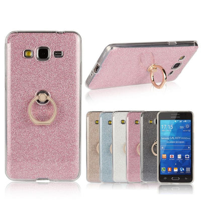 High Quality Transparent Soft TPU Case Glitter Metal Ring Back Cover For Samsung Galaxy Grand Prime G530 G530F G530Y G530H Case