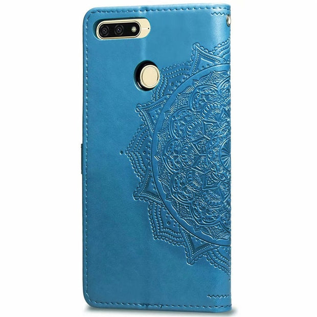 Honor 7A Pro Case On For Huawei Y6 2018 Case Flip Leather 3D Mandala Flower Case For Huawei Honor 7A Pro Prime Case Cover Coque