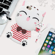 Hot Sales! 3D Fashion Cartoon Fortune Cat Phone Silicone Soft Case Cover For Apple IPhone 5 5S 5s 5C 5 S SE Cases Gel Shell