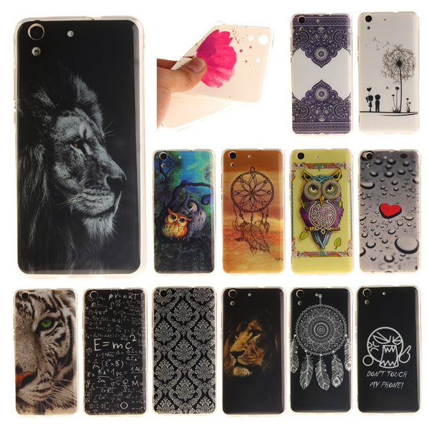 "Huawei Honor 5A Y6 II 5.5"" Case Cute Animal Flower Silicone TPU Skin Soft Back Cover Phone Case For Huawei Honor 5A Y6II Y6 II"