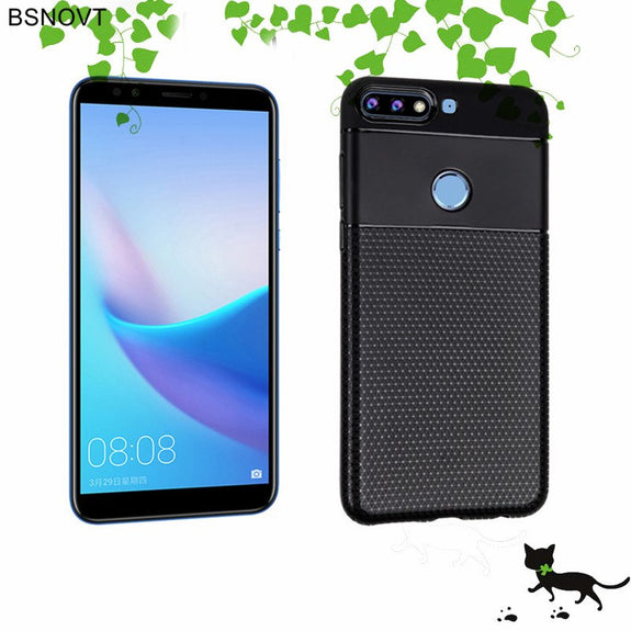 8dfcbe17e27 Huawei Honor 7C Case Back Cover Huawei Y7 Prime 2018 Shockproof Case C