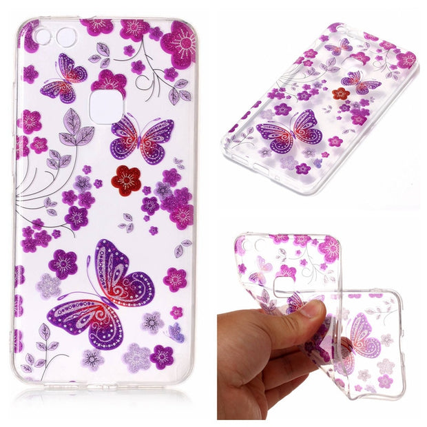 "Huawei P 10 Lite 2017 G10 5.2"" Silicon Case Transparent Animal Anime Soft Silicone TPU Gel Back Cover Case For Huawei P10 Lite"