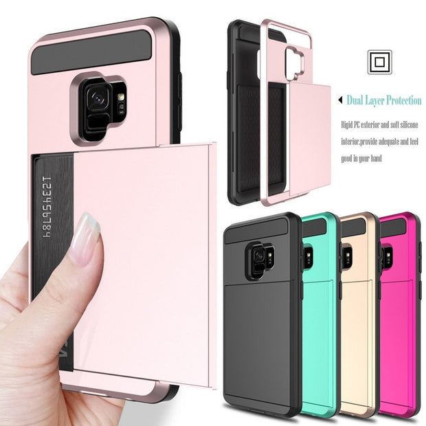 ae0be4bcb9a Hybrid Armor 2in1 PC+TPU Dual Layer Protect Shockproof Phone Case For Samsung  Galaxy S9