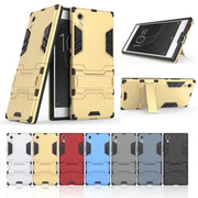 Hybrid Case Capinha For Sony Xperia XA1 Cover Hard PC And TPU Two In One Back Armor Bracket Mobile Phone Cases