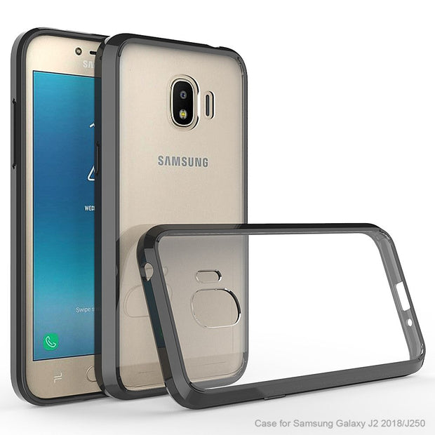 quality design 8a1db caa0d Hybrid Hard Clear Case For Samsung Galaxy J2 2018 Case Cover For Samsung J2  Pro 2018 Silicone Bumper Case For Samsung J2 2018