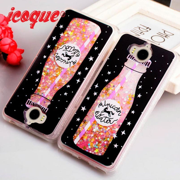 ICOQUE Luxury Cases For Huawei Y6 Y5 2017 Case Glitter Liquid Quicksand  Cute Capas Y52017 Case For Huawei Y6 2017 Cover Girl