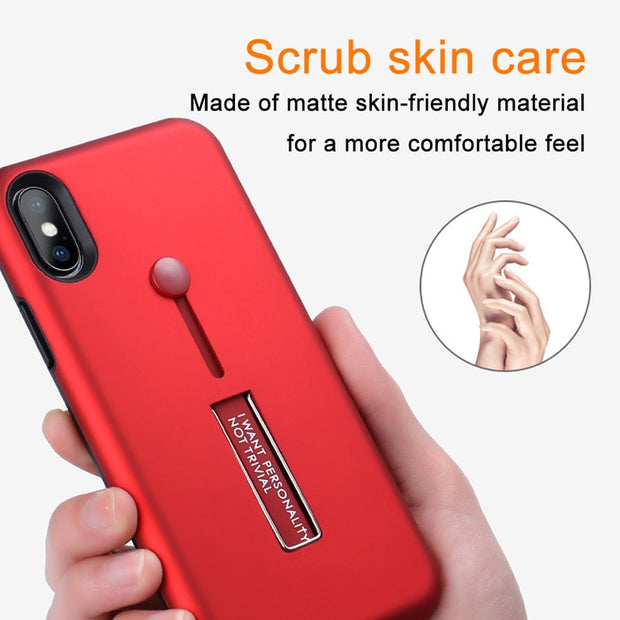 IUVS Fashion Creativity Silicon Ring Phone Cases For Iphone XR 7 8 6 Plus Case TPU Hide Stand Holder Cover For Iphone 6S XS MAX