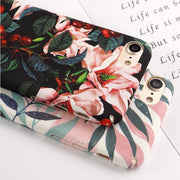 JAMULAR Artistic Leaf Phone Case For IPhone X 8 7 6 6s Plus Floral Hard Back Cover For IPhone 7 8 6 6s Leaves Print Fundas Shell