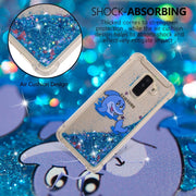 JFWEN Liquid Case For Samsung Galaxy A6 2018 Case Silicone For Samsung A6 Plus 2018 Cover Glitter Dynamic Soft TPU Phone Cases