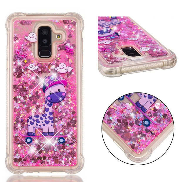 samsung galaxy a6 glitter liquid case