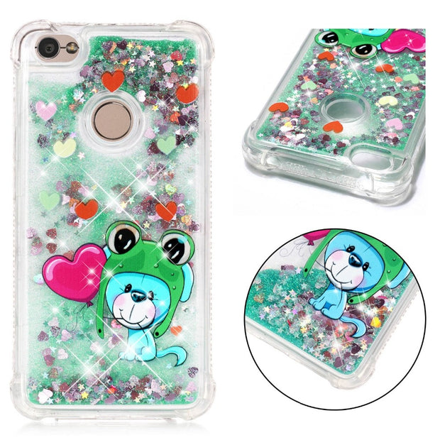 JFWEN Phone Case For Xiaomi Redmi Note 5A Case Silicon For Xiaomi Redmi Note 5A Prime Case Cover Glitter Liquid Dynamic Soft TPU