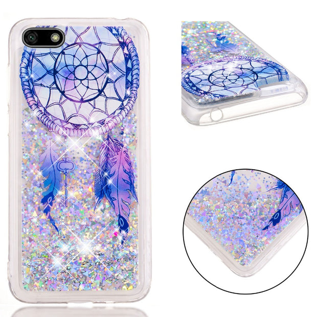 JFWEN Y5 2018 Case On For Fundas Huawei Y5 Prime 2018 Case For Huawei Y5 2018 Cases Dynamic Liquid Soft TPU Silicone Back Cover