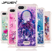 JFWEN SFor Fundas Xiaomi Redmi 6 Case Cover Glitter Dynamic Liquid Phone Cases Soft Silicon Cover For Coque Xiaomi Redmi 6A Case