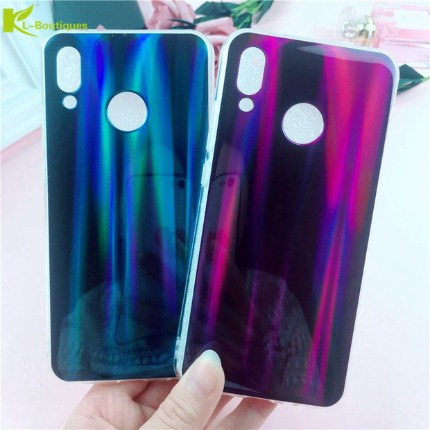 KL-Boutiques Blu-Ray Phone Case For Huawei P20 Lite /Nove 3E Case For Huawei P20 Pro Back Cover Laser Rainbow Cartoon Cases Capa