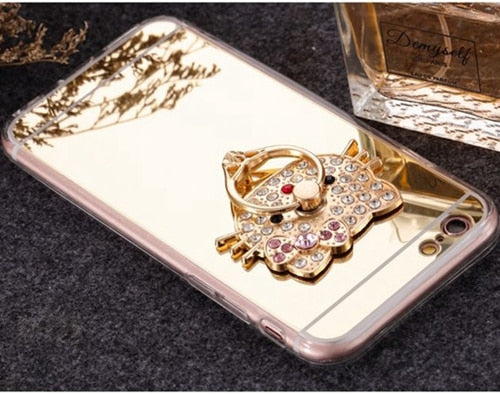 Kerzzil Heart Metal Mirror Stand Holder Case For IPhone 7 6S Plus SE B 449891bb0952