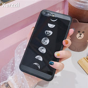Kerzzil Moon Astronaut Case For IPhone 7 6 6S 8 Plus Sky Stars Soft Silicone Cover For IPhone X 6 6S 7 8 10 Plus Phone Back Capa