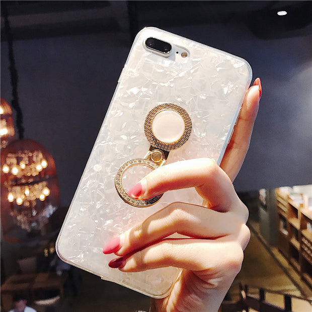 Kickstand Phone Case For IPhone 6S 6 7 8 X XS Max Case Soft Silicone Colorful Ring Stand Holder Cover For IPhone 7 8 Plus Case