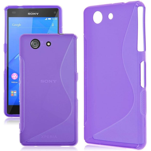 the latest a070a d65cc Kindamart Full Protective For Sony Xperia Z3 Compact Case D5803 D5833 Soft  Matte Silicone Case & Glass Cover For Sony Z3 Compact
