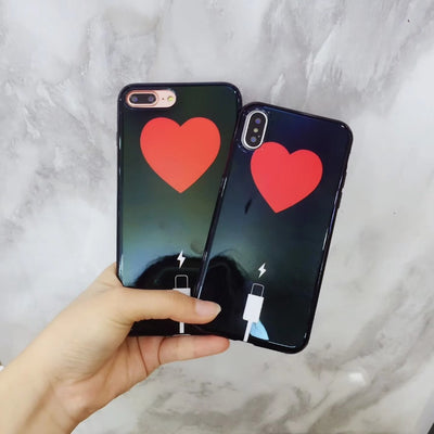 Kuutti Squishy Fashion Brief Glossy Women Heart Black Soft Silicone Shockproof Phone Case For IPhone 6 6s 7 8 Plus X Cheap Cases