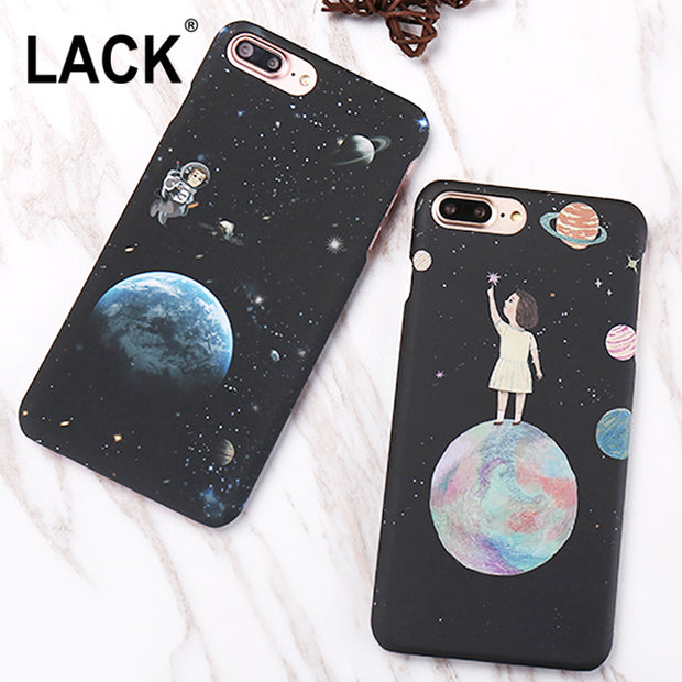 LACK Cartoon Airship Astronaut Stars Moon Case For Iphone 7 Case Cute Boy Girl Cover Hard PC Phone Cases For Iphone7 7 Plus Capa