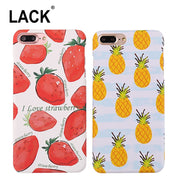LACK Cartoon Fruit Strawberry Pineapple Phone Case For Iphone 7 Plus Case Fashion Hard PC Back Cover For Iphone 7 Capa