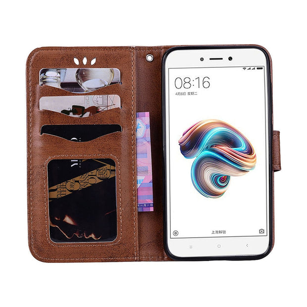 Leather Case For Huawei P8 P9 P20 Lite 2017 G9 Lovely Pattern Cover For Honor 8 9 Lite Enjoy 7 7S Huawei Y5II Impressive Funda