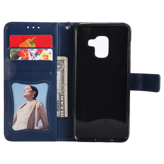 Leather Cases For Samsung Galaxy A3 2017 Case SFor Fundas A8 2018 A5 2017 Xcover 4 SM-G390F A8+ Cover Flip Wallet Phone Bag B132