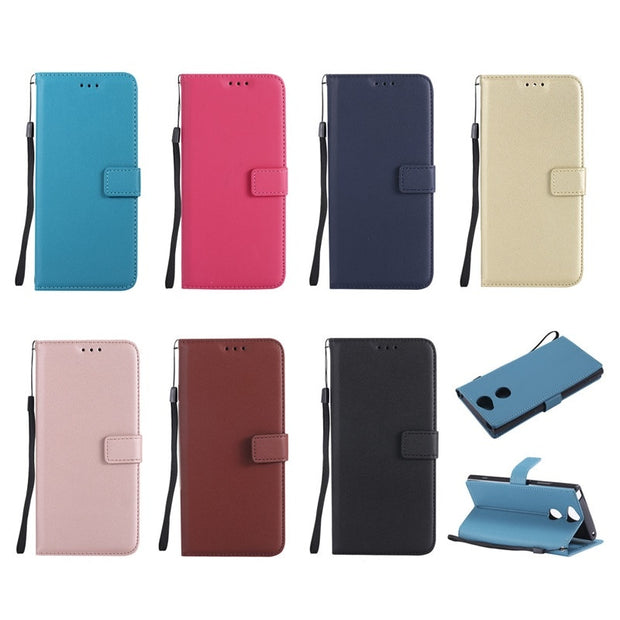 Leather Wallet Case Magnetic Clasp Cover For Samsung Galaxy S3 S4 S5 Mini S6 S7 S8 S9 Edge Plus Note 5 8 With Card Holder