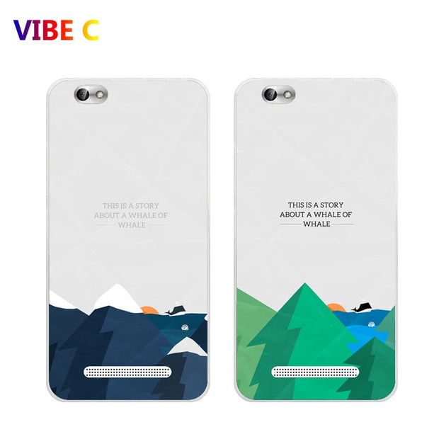Lenovo Vibe C Case,Silicon Landscape Painting Soft TPU Back Cover For  Lenovo A2020 A2020a40 Phone Protect Case Shell