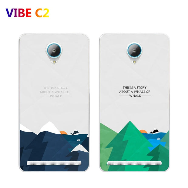 Lenovo Vibe C2 K10A40 Case,Silicon Landscape Painting Soft TPU Back Cover  For Lenovo Vibe C2 K10A40 Phone Protect Case Shell
