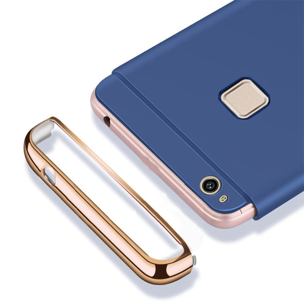Luxury 3 In 1 Hard PC Case For Huawei P10 MAte 10 Lite P9 P8 Lite 2017 Cases Phone Cover Coque For Huawei Honor 8 9 7X V10