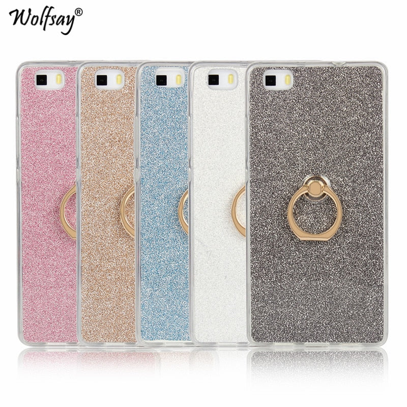 Luxury Bling Glitter Case Huawei P8 Lite 2016 Cover Silicone Soft ...