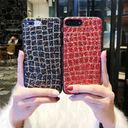 Luxury Bling Glitter Shining Case For IPhone X 7 8 Plus PC+TPU Back Cover For IPhone 6 6s Plus