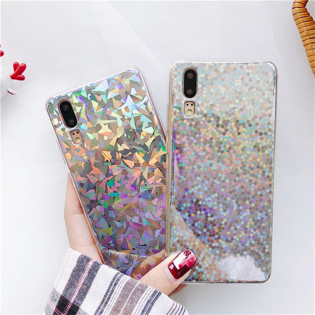 Luxury Bling Glitter Shining Phone Case Silicone Soft Back Cover Shell For Samsung Galaxy S7 Edge S8 Plus S9 S9Plus Note 8 Cases