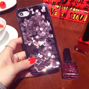 Luxury Bling Heart Sequins Flowing Liquid Phone Case For IPhone 7 6 6S Plus Hard Phone Cover For IPhone 6 7 6S Back Capa