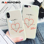 Luxury Blu-ray Cute Coordinate Love Heart Phone Case For Iphone X 7 7Plus 6 6S Plus 8 8Plus Glossy Soft TPU Words Back Cover
