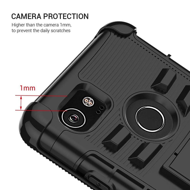 Luxury Clip For Google Pixel XL Case Hard Plastic Heavy Duty Protection Armor For Google Pixel Case Kickstand Phone Cover