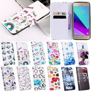 Luxury Flip Rainbow Unicorn Panda Cover Case For Samsung Galaxy Grand Prime VE G530 SM-G531H Case Leather Wallet Cases Shell