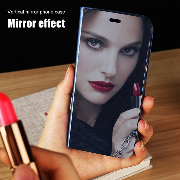 Luxury Mirror Case For Xiaomi Mi A1 Redmi 5 Plus Note 4 4X 5A Prime Mi5X Leather Stand Cover Phone Holder Cases Conque Shell