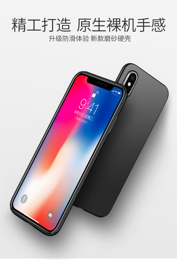 Luxury Phone Case For IPhone X XS Ultra Thin Slim Back Cover Case For Apple IPhoneX Capinhas Hard PC Coque Fundas + Gift